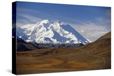 View of Mt Mckinley and Ak Range from Stony Hill W-Design Pics Inc-Stretched Canvas Print