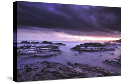 Sunset on Beach Near Melbourne, Australia-Keith Ladzinski-Stretched Canvas Print