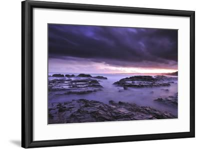 Sunset on Beach Near Melbourne, Australia-Keith Ladzinski-Framed Photographic Print