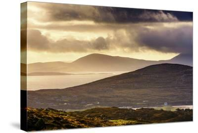 Darrynane Bay, Looking at Bera and Slieve Miskish Mountains over the Kenmere River, County Kerry-Chris Hill-Stretched Canvas Print