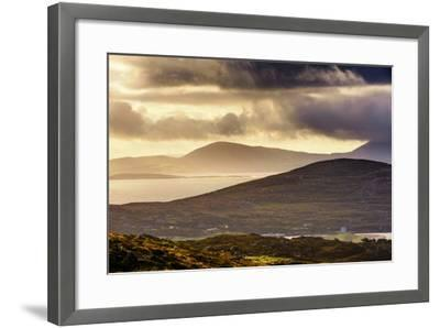 Darrynane Bay, Looking at Bera and Slieve Miskish Mountains over the Kenmere River, County Kerry-Chris Hill-Framed Photographic Print