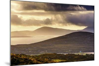 Darrynane Bay, Looking at Bera and Slieve Miskish Mountains over the Kenmere River, County Kerry-Chris Hill-Mounted Photographic Print