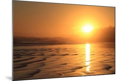 The Sun Sets over Maine's Higgins Beach in Wintertime-Robbie George-Mounted Photographic Print
