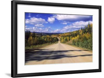 Cumulus Clouds Drift over a Colorful Autumn Landscape-Jim Reed-Framed Photographic Print