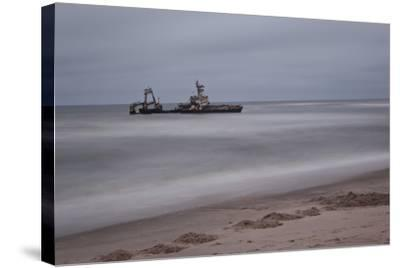 A Shipwreck Near Cape Cross, Namibia-Alex Saberi-Stretched Canvas Print