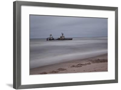 A Shipwreck Near Cape Cross, Namibia-Alex Saberi-Framed Photographic Print