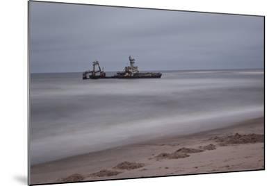 A Shipwreck Near Cape Cross, Namibia-Alex Saberi-Mounted Photographic Print