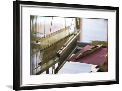 Stretched Strands of Fine Yarn in Traditional Looms at Ock Pop Tock, the Living Craft Center-Michael Melford-Framed Photographic Print