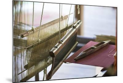 Stretched Strands of Fine Yarn in Traditional Looms at Ock Pop Tock, the Living Craft Center-Michael Melford-Mounted Photographic Print