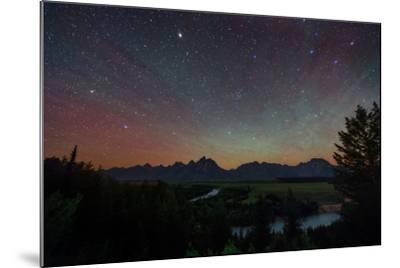 The Night Sky over the Grand Teton National Park and the Snake River-Babak Tafreshi-Mounted Photographic Print