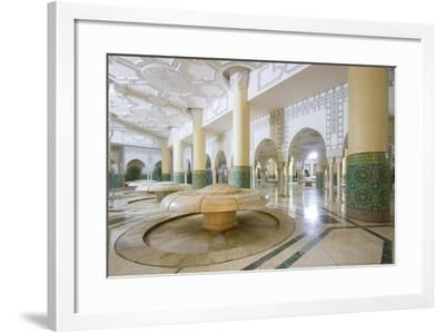 Interior Arches and Mosaic Tile Work of the Hammam Turkish Bath Below the Hassan Ii Mosque-Erika Skogg-Framed Photographic Print