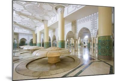 Interior Arches and Mosaic Tile Work of the Hammam Turkish Bath Below the Hassan Ii Mosque-Erika Skogg-Mounted Photographic Print