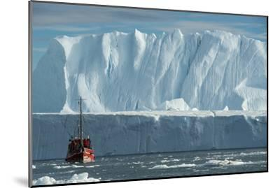 A Tourist Boat in the Waters of the Ilulissat Icefjord-Michael Melford-Mounted Photographic Print