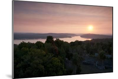 A View of Sunset over Lake Yaxha, from Tikal Temple 216-Sergio Pitamitz-Mounted Photographic Print