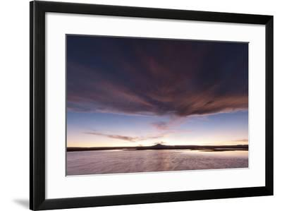 Red Clouds at Sunset over Chaxa Lagoon in the Salar De Atacama-Sergio Pitamitz-Framed Photographic Print