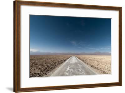 An Empty Road Through a Salt Flat in the Salar De Atacama-Sergio Pitamitz-Framed Photographic Print