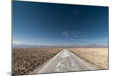 An Empty Road Through a Salt Flat in the Salar De Atacama-Sergio Pitamitz-Mounted Photographic Print