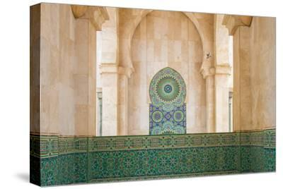 Exterior Mosaic Tile Work of the Hassan Ii Mosque-Erika Skogg-Stretched Canvas Print