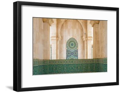 Exterior Mosaic Tile Work of the Hassan Ii Mosque-Erika Skogg-Framed Photographic Print