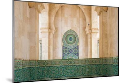 Exterior Mosaic Tile Work of the Hassan Ii Mosque-Erika Skogg-Mounted Photographic Print