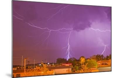 Multiple Lightning Bolts During an Intense Lightning Storm-Mike Theiss-Mounted Photographic Print