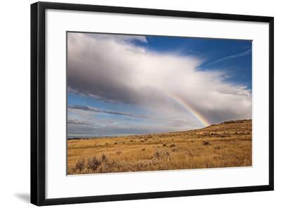 A Thunderstorm Produces a Vivid Rainbow-Jim Reed-Framed Photographic Print