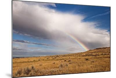 A Thunderstorm Produces a Vivid Rainbow-Jim Reed-Mounted Photographic Print