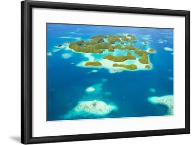 An Aerial View of Palau's Rock Islands in the Turquoise Waters of the Pacific Ocean-Mike Theiss-Framed Photographic Print