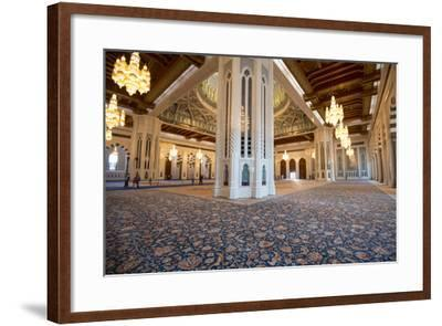 The World's Second Largest Carpet, Main Prayer Hall Floor of the Sultan Qaboos Grand Mosque-Michael Melford-Framed Photographic Print