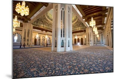 The World's Second Largest Carpet, Main Prayer Hall Floor of the Sultan Qaboos Grand Mosque-Michael Melford-Mounted Photographic Print
