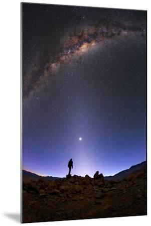 The Milky Way, Venus, and Zodiacal Light Above a Stargazer in the Desert-Babak Tafreshi-Mounted Photographic Print