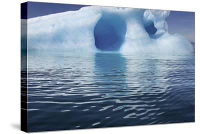 Seascape of an Iceberg and the Rippling of the Ocean's Surface-Jim Richardson-Stretched Canvas Print