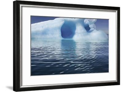 Seascape of an Iceberg and the Rippling of the Ocean's Surface-Jim Richardson-Framed Photographic Print