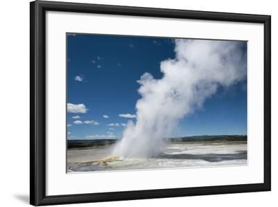 Steam Is Expelled from a Geyser in Yellowstone National Park, Wyoming-Joel Sartore-Framed Photographic Print