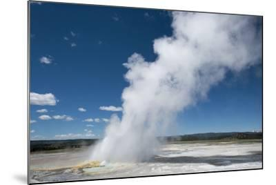 Steam Is Expelled from a Geyser in Yellowstone National Park, Wyoming-Joel Sartore-Mounted Photographic Print