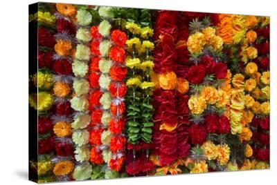 Flower Garlands for Sale-Michael Melford-Stretched Canvas Print