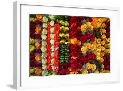 Flower Garlands for Sale-Michael Melford-Framed Photographic Print