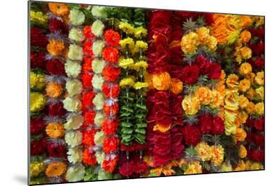 Flower Garlands for Sale-Michael Melford-Mounted Photographic Print