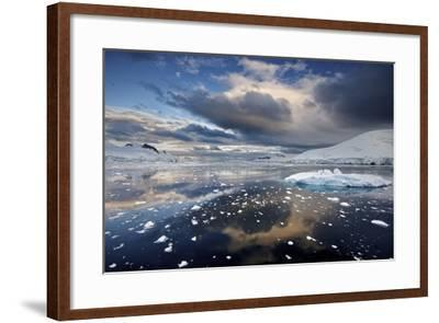 Evening Clouds over Floating Ice-Jim Richardson-Framed Photographic Print