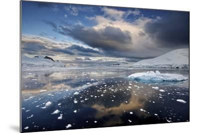 Evening Clouds over Floating Ice-Jim Richardson-Mounted Photographic Print