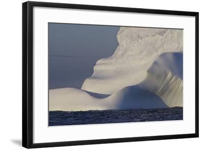 Distant Penguins on an Iceberg-Jim Richardson-Framed Photographic Print