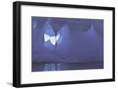 Textures and Holes in an Iceberg, Caused by Erosion-Jim Richardson-Framed Photographic Print