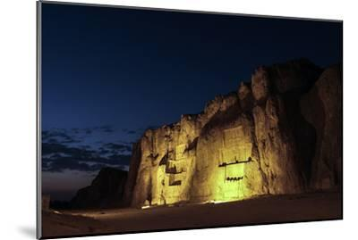 Night View of the 2500-Year Old Tombs of Ancient Persian Kings of the Achaemenid Empire-Babak Tafreshi-Mounted Photographic Print