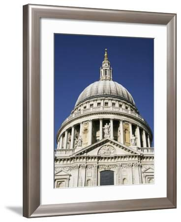 Dome of St Pauls Cathedral, Close Up-Design Pics Inc-Framed Photographic Print