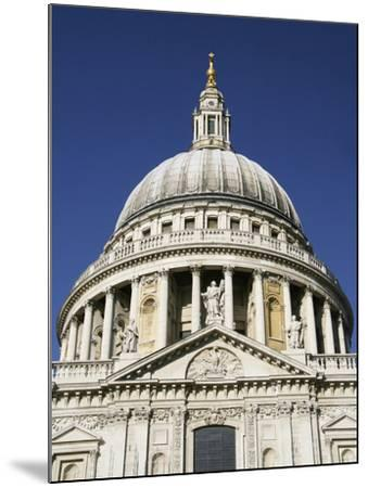 Dome of St Pauls Cathedral, Close Up-Design Pics Inc-Mounted Photographic Print