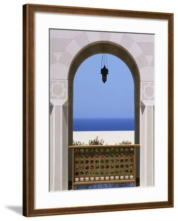 View Through Archway to Beach and Sea-Design Pics Inc-Framed Photographic Print