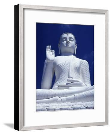 Large Seated White Buddha-Design Pics Inc-Framed Photographic Print
