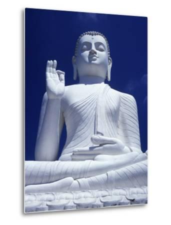 Large Seated White Buddha-Design Pics Inc-Metal Print