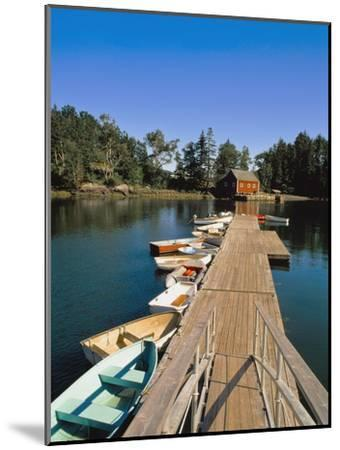Old Wooden Pier and Boats in Harbor-Design Pics Inc-Mounted Photographic Print