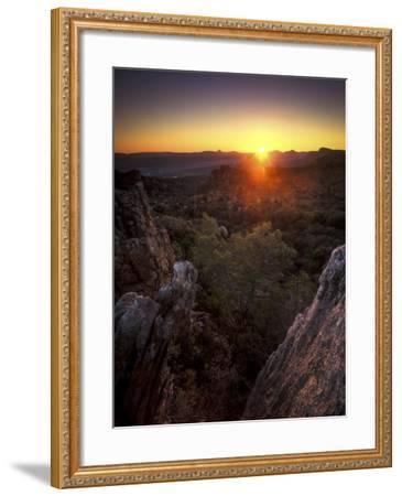 Sunset over Cederberg Wilderness Area, South Africa-Keith Ladzinski-Framed Photographic Print